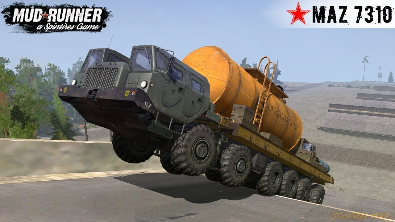 MAZ 7310M 12x12 MONSTER TRUCK v1.0 for Spintires: MudRunner