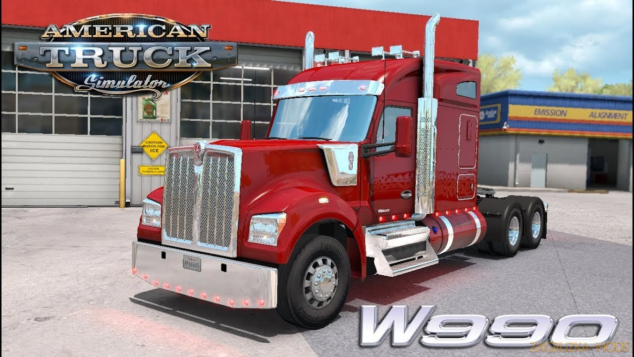 Kenworth W990 + Interior v1.2.4 by Harven (1.39.x) for ATS