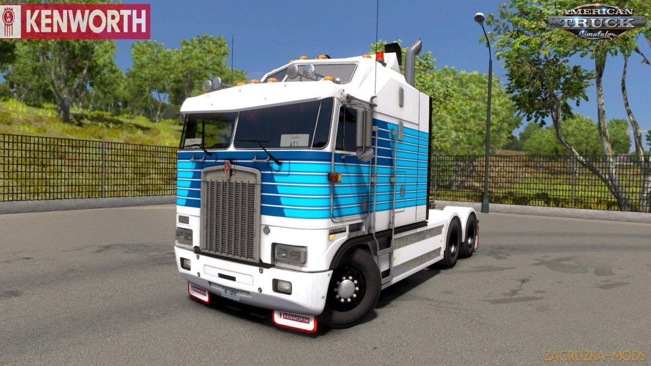 Kenworth K100-E + Interior v0.94 by Overfloater (1.35.x) for ATS