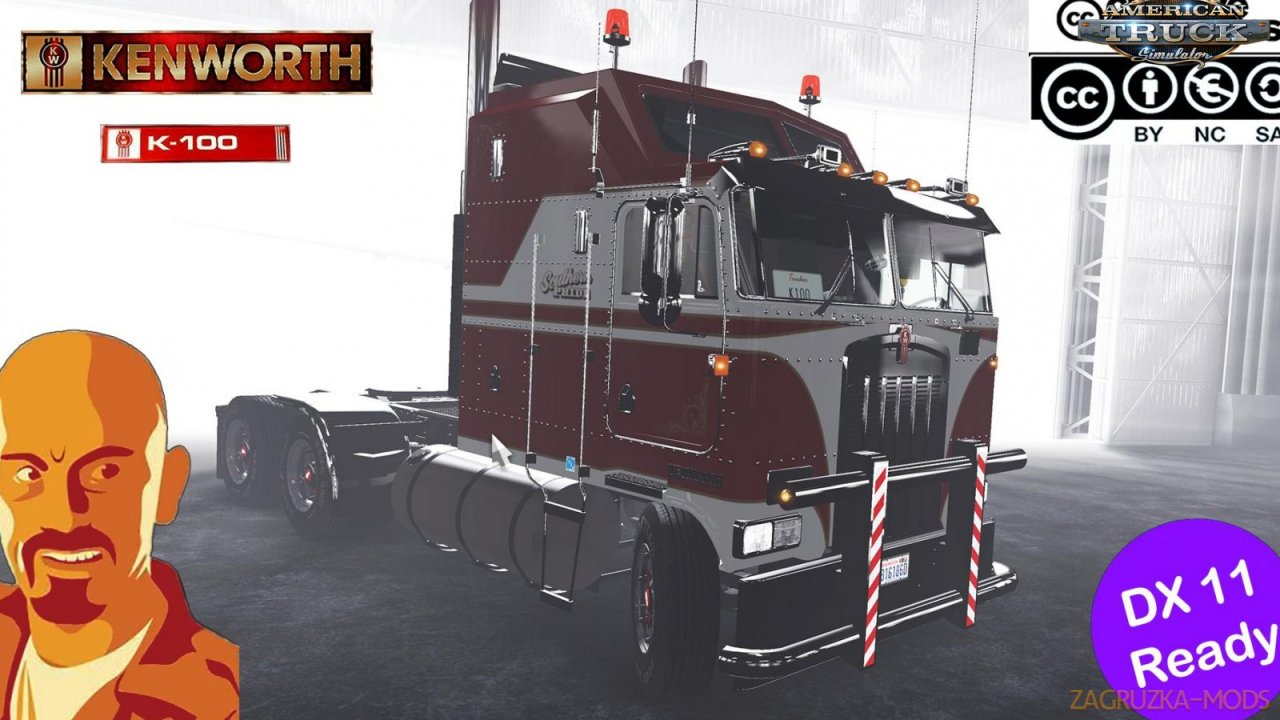 Kenworth K100 + Interior v1.0 by CyrusTheVirus (v1.35.x) for ATS
