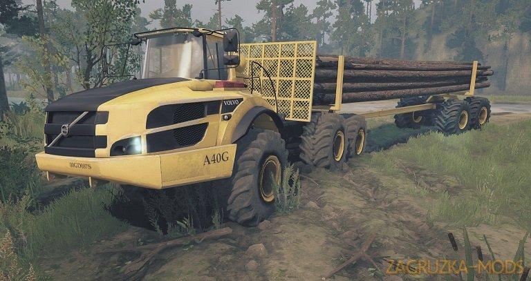Volvo A40g Big Mining Truck v1.2 for Spintires: MudRunner