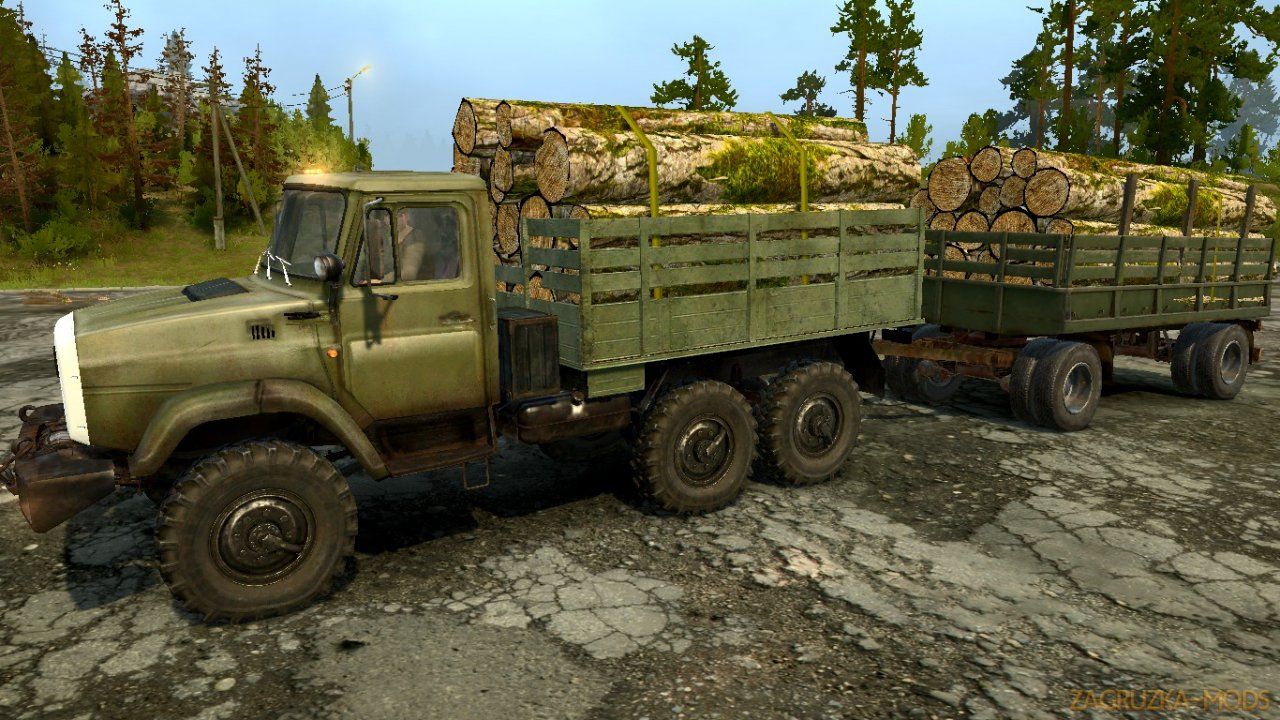 Pack ZIL Trucks Legends of the USSR 6 v1.0 for Spintires: MudRunner