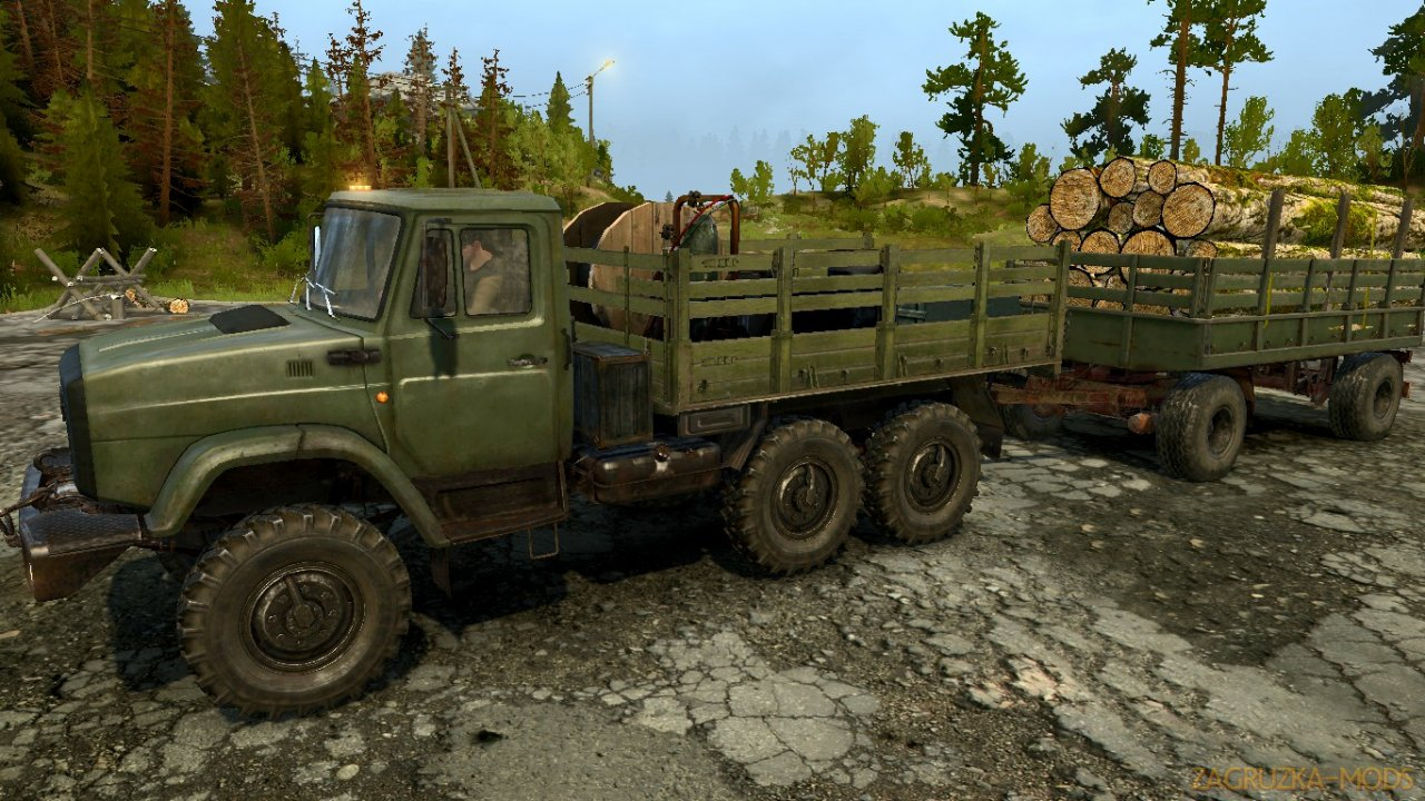 ZIL-4334 v3.0 for Spintires: MudRunner