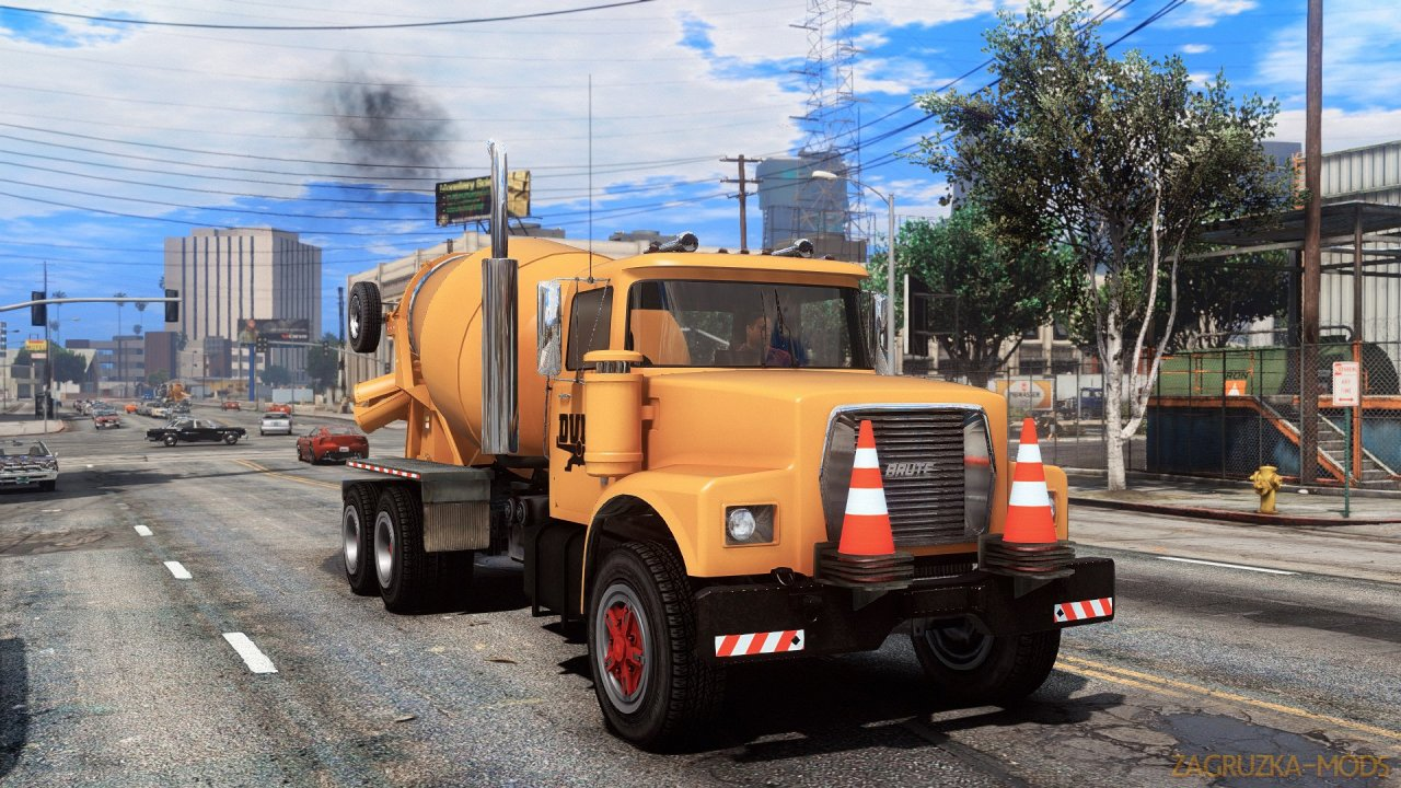 Brute Mixer Classic Tipper-based Mixer v1.4 for GTA 5