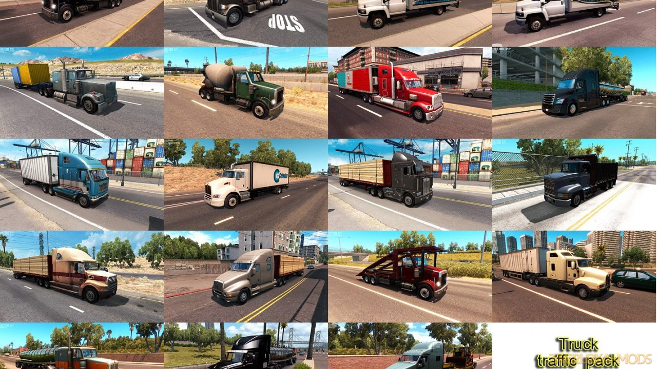Truck Traffic Pack v2.3 by Jazzycat (1.35.x) for ATS