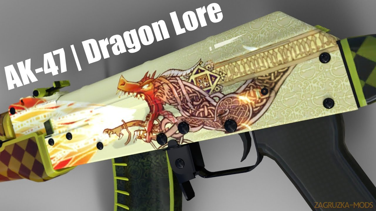 Dragon Lore Skin for AK47 Weapon v1.0 for CSGO