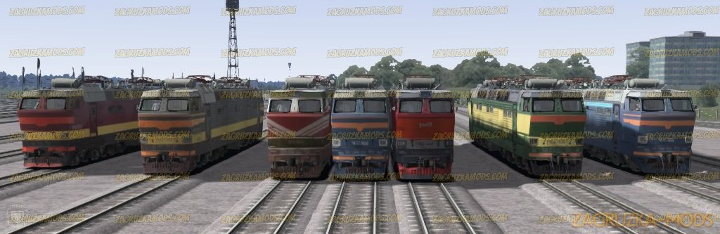 Pack Electric Locomotives CHS4T v1.0 for TS 2019
