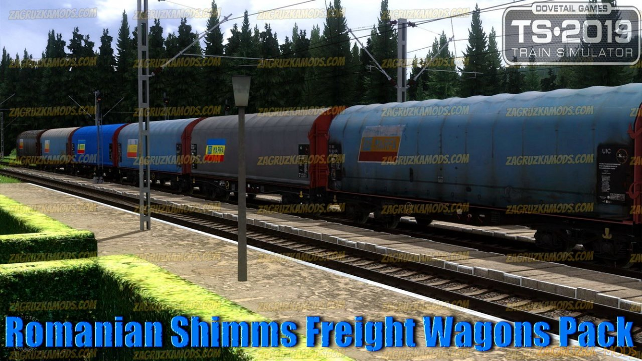 Romanian Shimms Freight Wagons Pack v1.0 for TS 2019