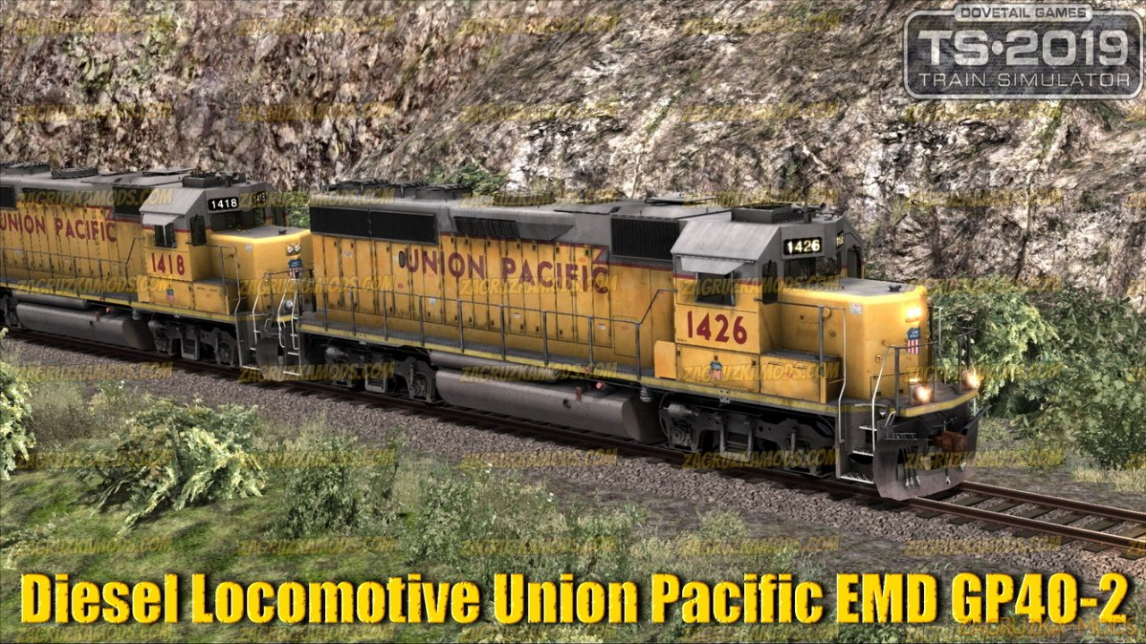 Diesel Locomotive Union Pacific EMD GP40-2 v1.0 for TS 2019