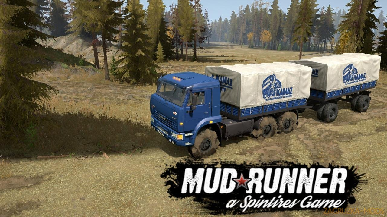 KamAZ 65225 v1.0 for Spintires: MudRunner