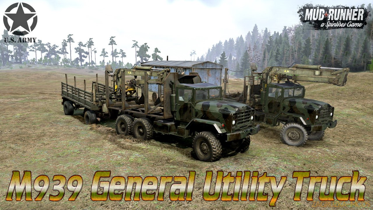 M939 General Utility Truck v1.0 for Spintires: MudRunner