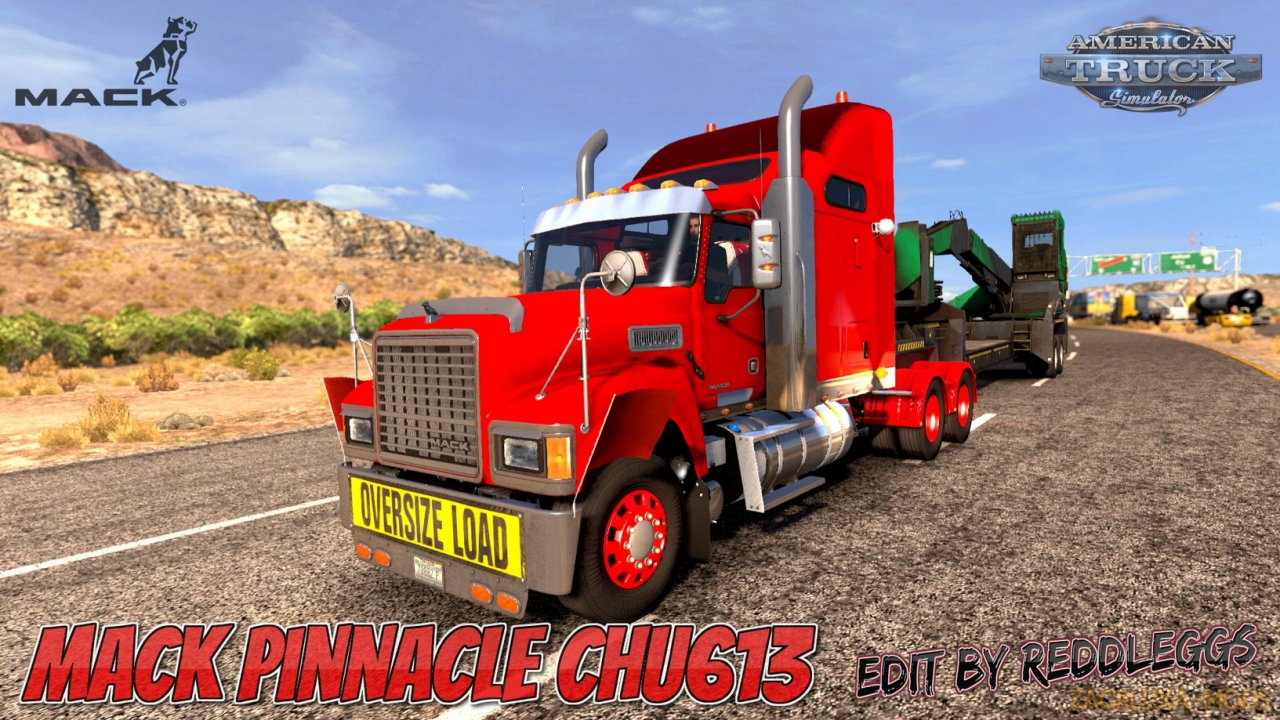Mack Pinnacle CHU613 v2.3 Edit by ReddLeggs (1.37.x) for ATS