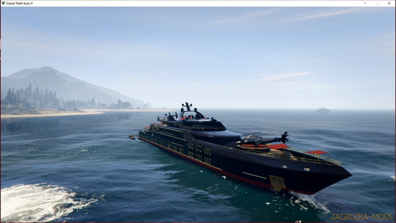 Working Galaxy Super Yacht Mod v1.0 for GTA 5
