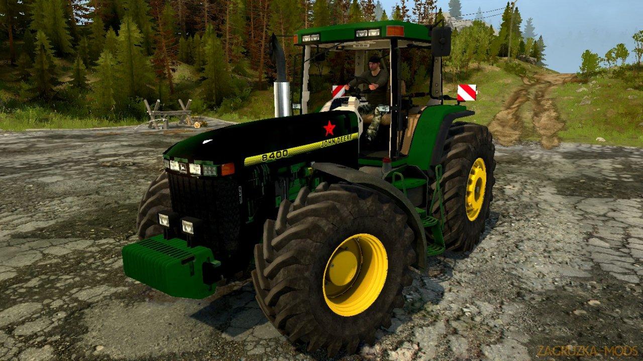 Tractor John Deere 8400 v1.0 for Spintires: MudRunner