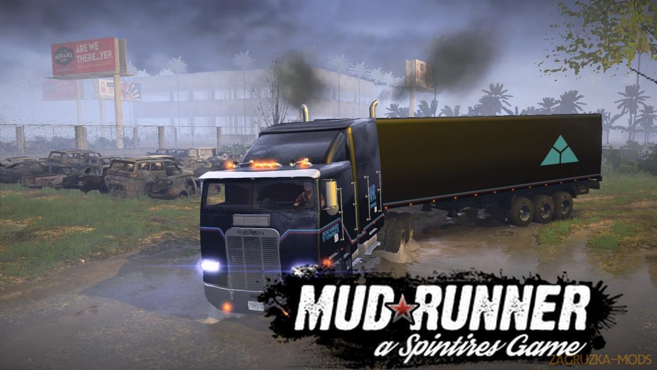 FREIGHTLINER FLA 9664 Offroad v1.0 for Spintires: MudRunner