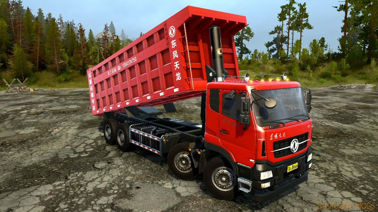 Dongfeng Tianlong Pingding (8X4) v1.0 for Spintires: MudRunner
