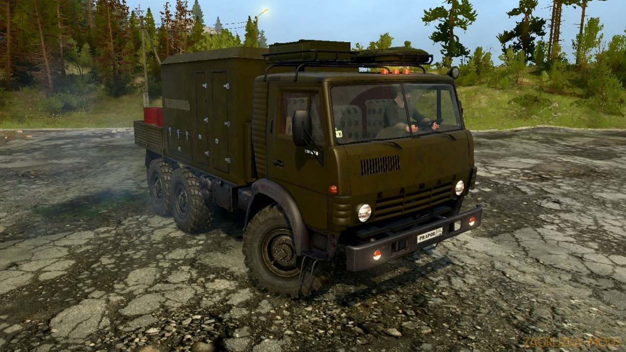 KamAZ-4310 Prapor Edition v1.0 for Spintires: MudRunner