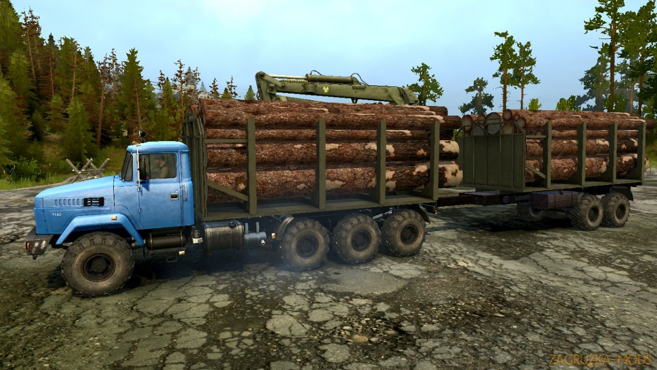 KrAZ 7140H6 v1.0 for Spintires: MudRunner