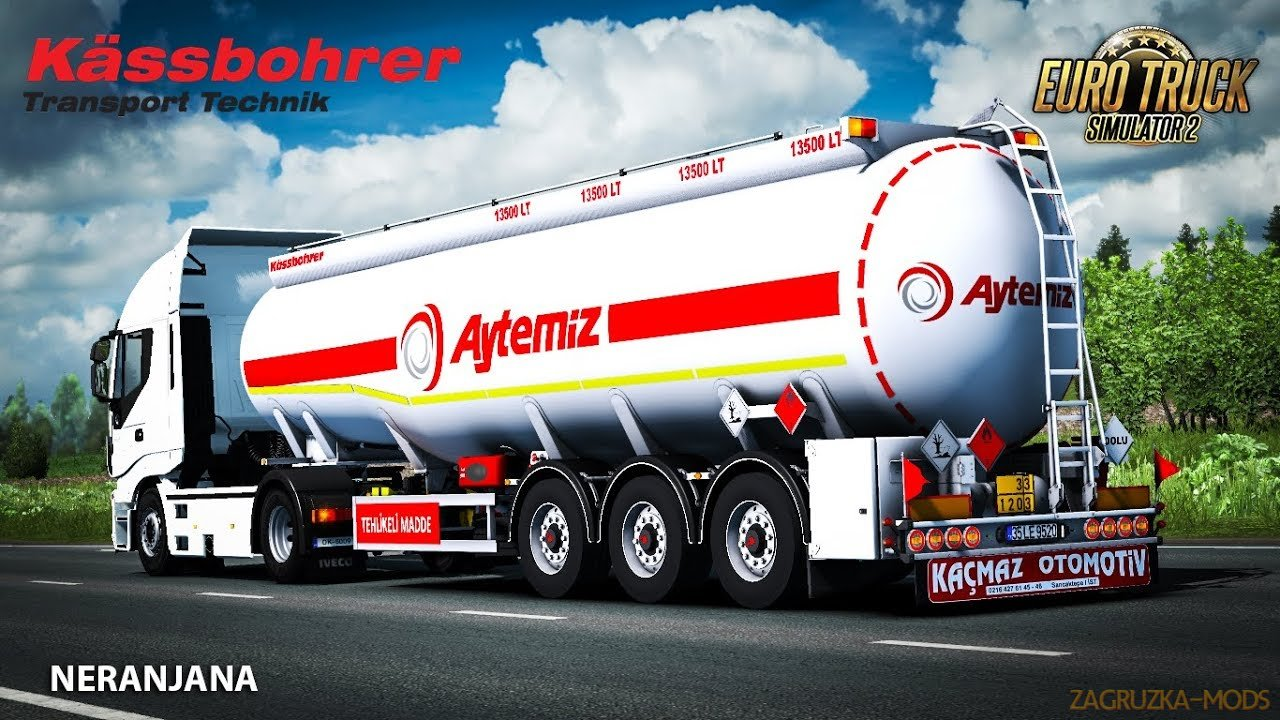 Kassbohrer Tanker Trailer v1.0 (1.35.x) for ETS2