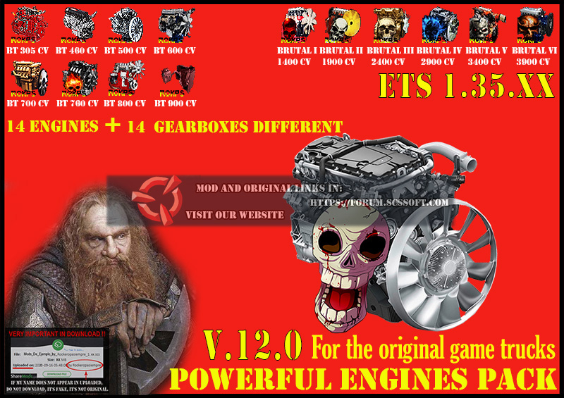 Pack Powerful engines + gearboxes V.12.0 for 1.35.XX