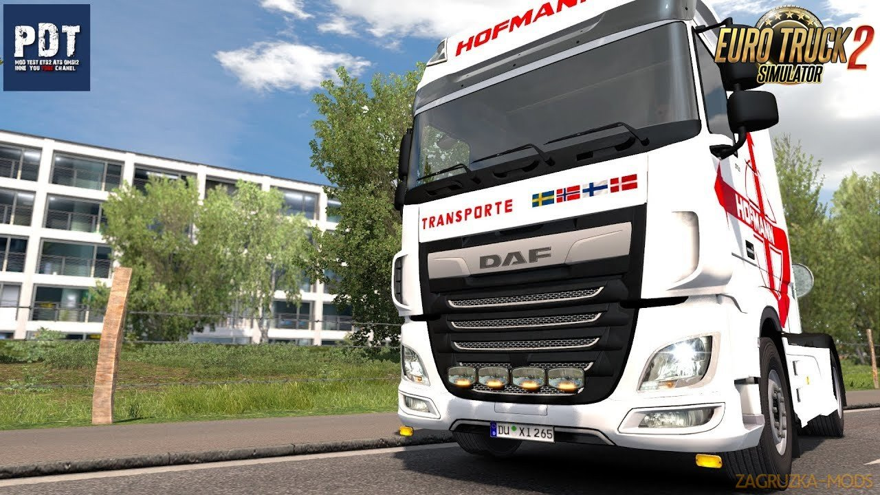 Bottom and Front Slots for DAF XF Euro 6 v1.0 (1.35.x) for ETS2