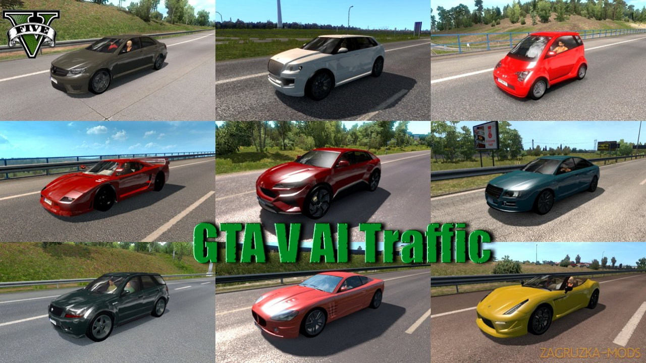 GTA V AI Traffic Pack v1.0 (1.35.x) for ETS2