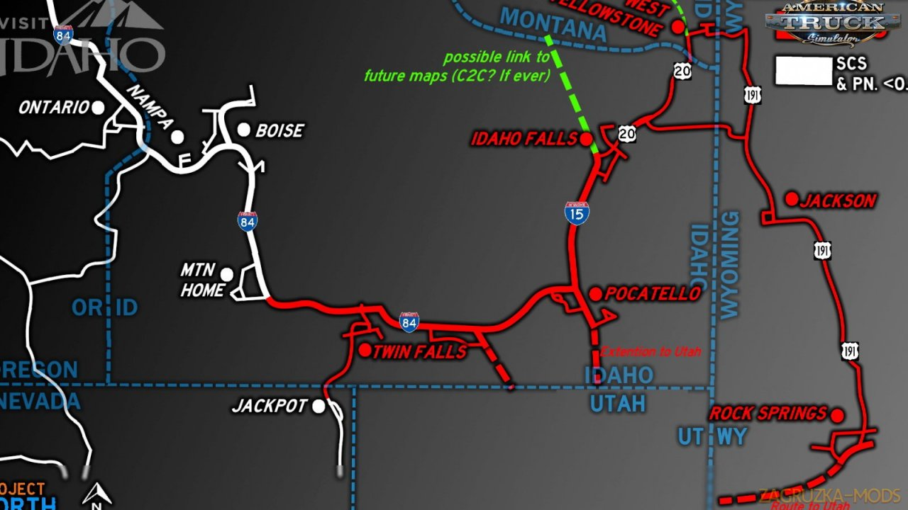 Project North Map v0.4.3 (1.36.x) for ATS