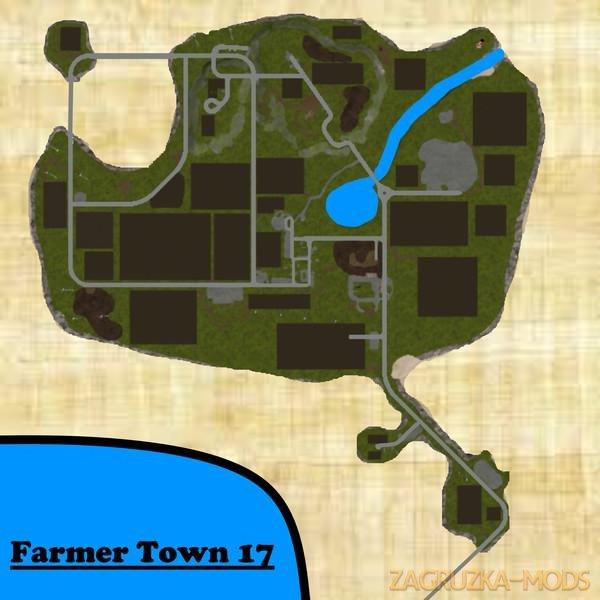 Farmer Town Map v1.0 for FS17