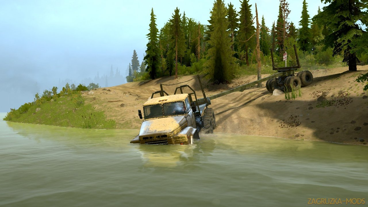 Flooded Town Map v1.0 for Spintires: MudRunner