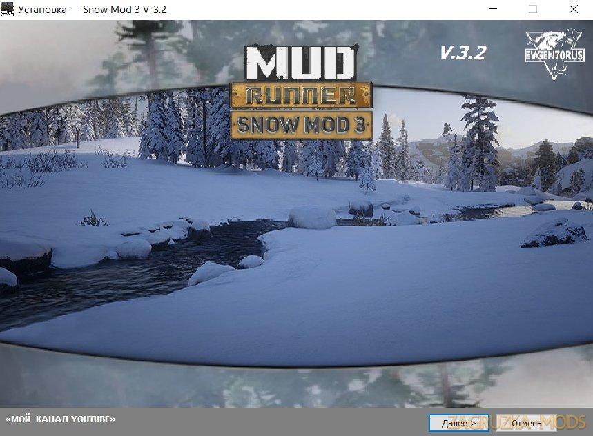 Winter Mod v3.2 for SpinTires: MudRunner