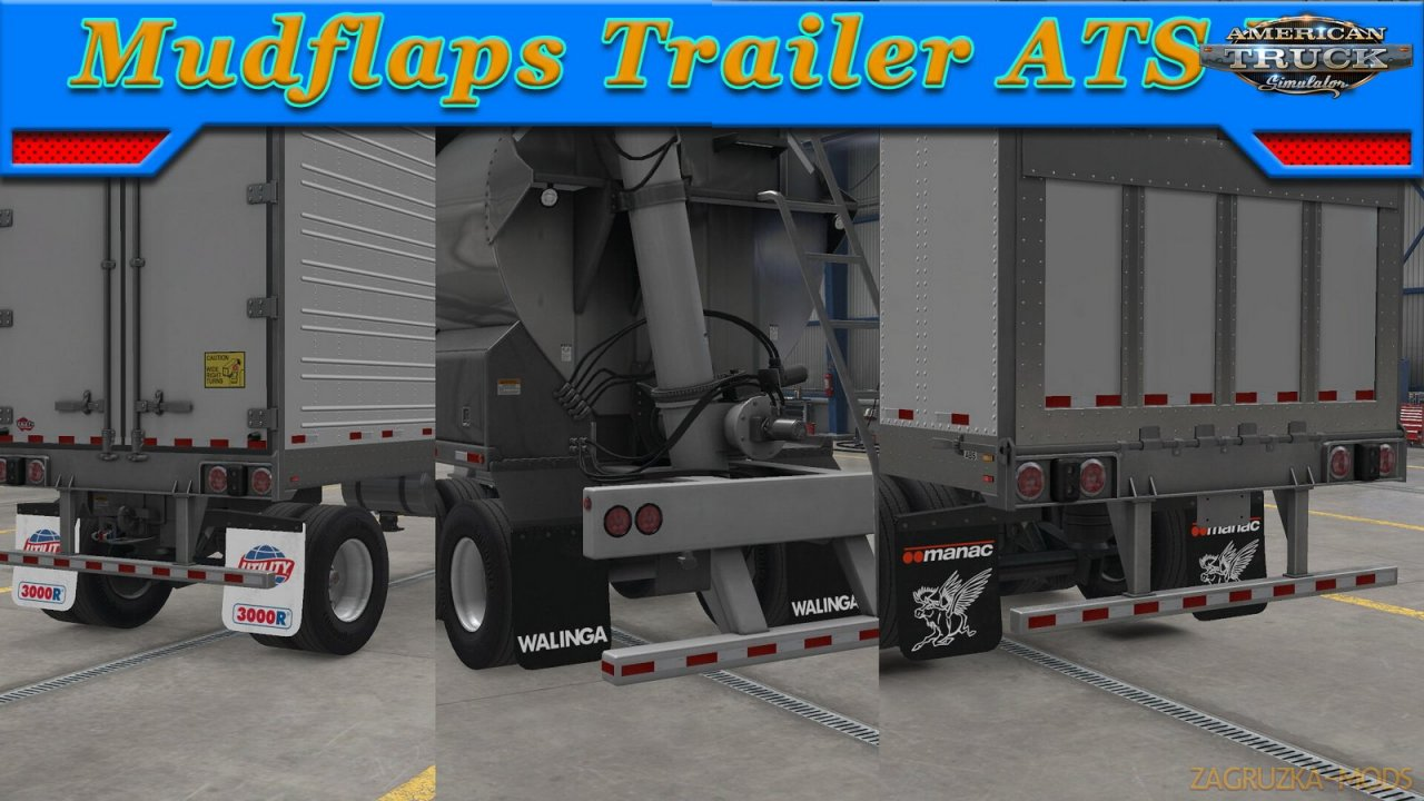 Mudflaps Trailer v1.0 (1.37.x) for ATS