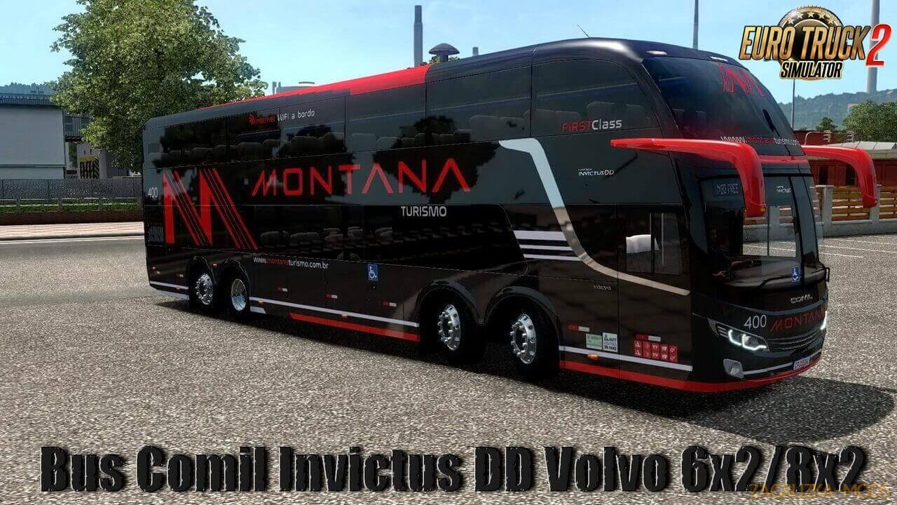 Bus Comil Invictus DD Volvo 6x2/8x2 v1.0 (1.36.x) for ETS 2