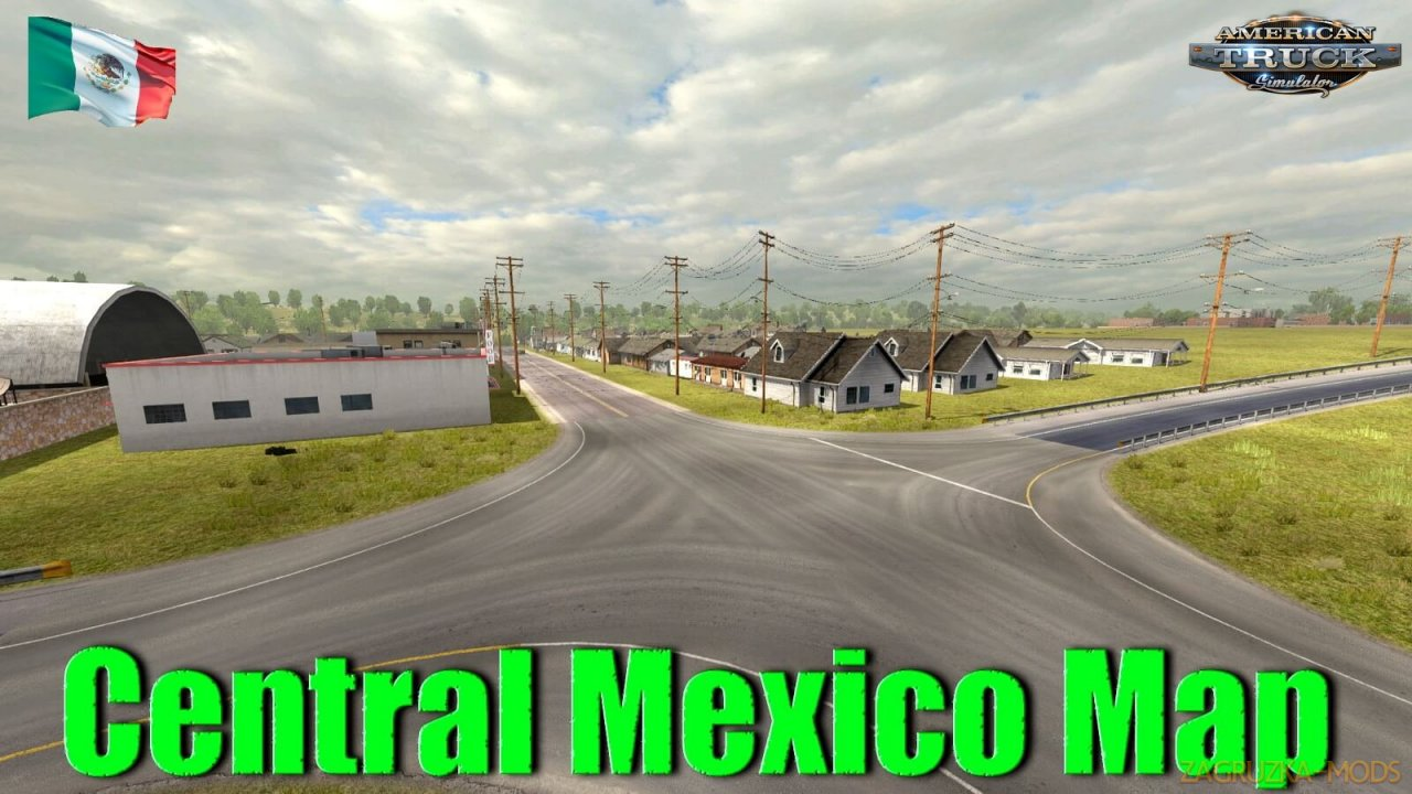 Central Mexico Map v1.0 (1.37.x) for ATS