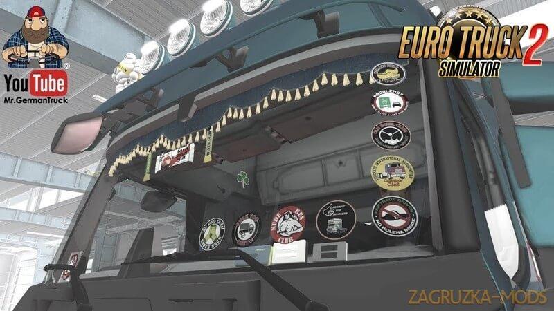 GlassStickers for All Trucks v1.0 (1.36.x) for ETS 2