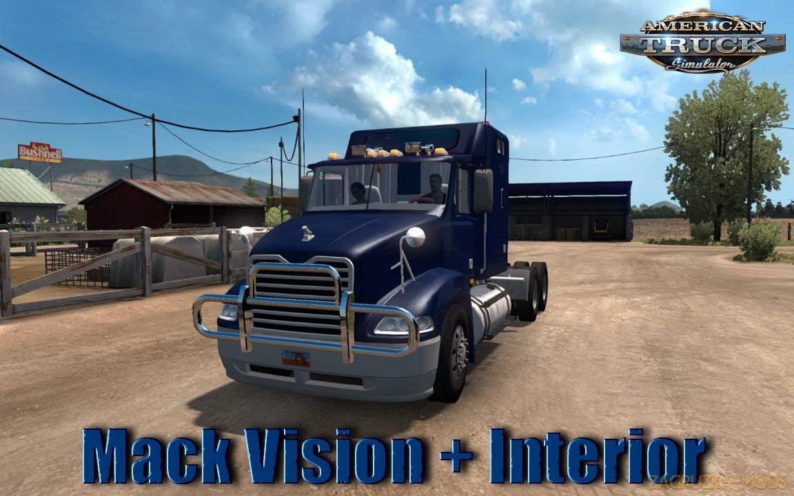 Mack Vision + Interior v3.0 by TIO_ARIEL (1.37.x) for ATS