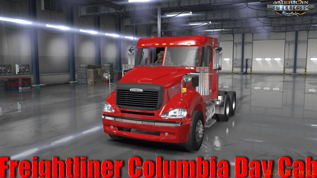 Freightliner Columbia Day Cab + Interior v1.0 (1.36.x) for ATS