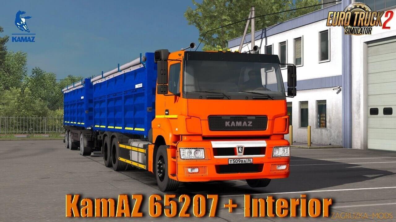KamAZ 65207 + Interior v1.0 (1.36.x) for ETS 2