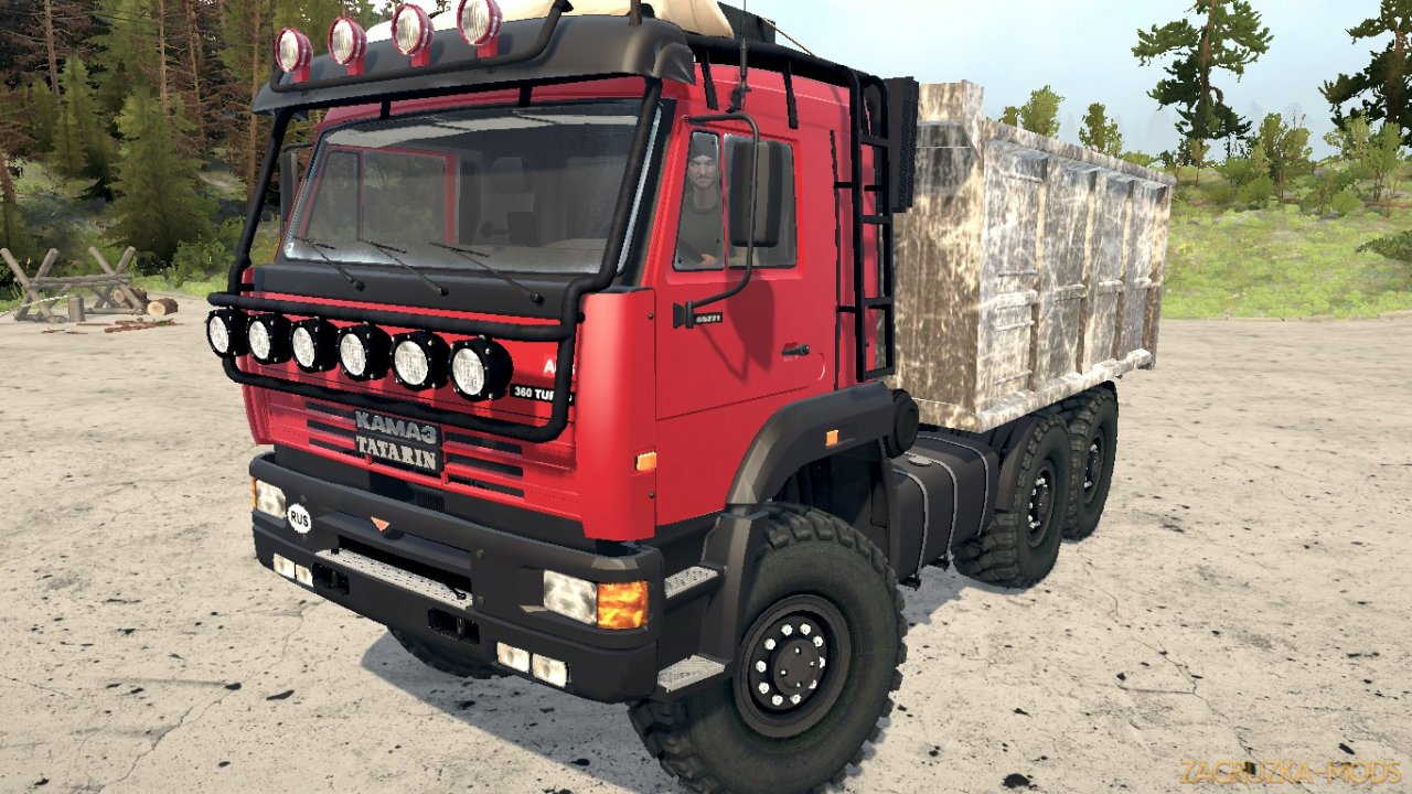 Kamaz-65221 Tatarin Edition v1.1 for Spintires MudRunner