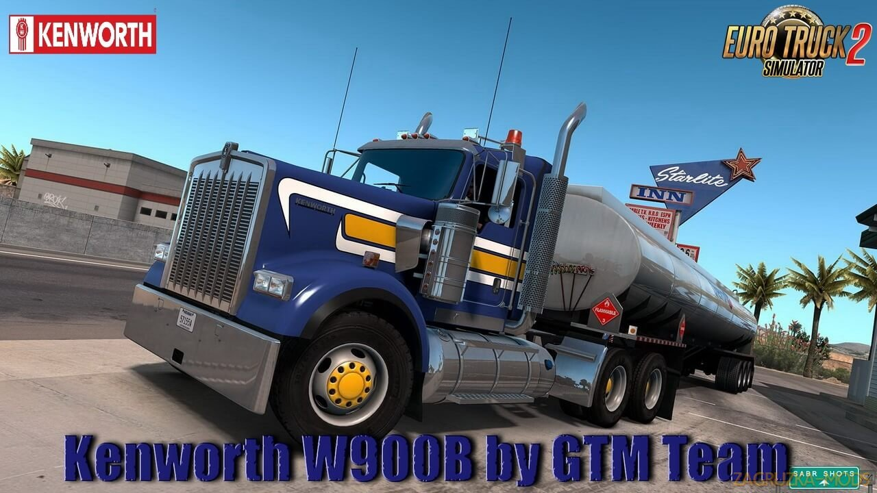 Kenworth W900B + Interior v1.2.2 by GTM Team (1.38.x) for ETS2