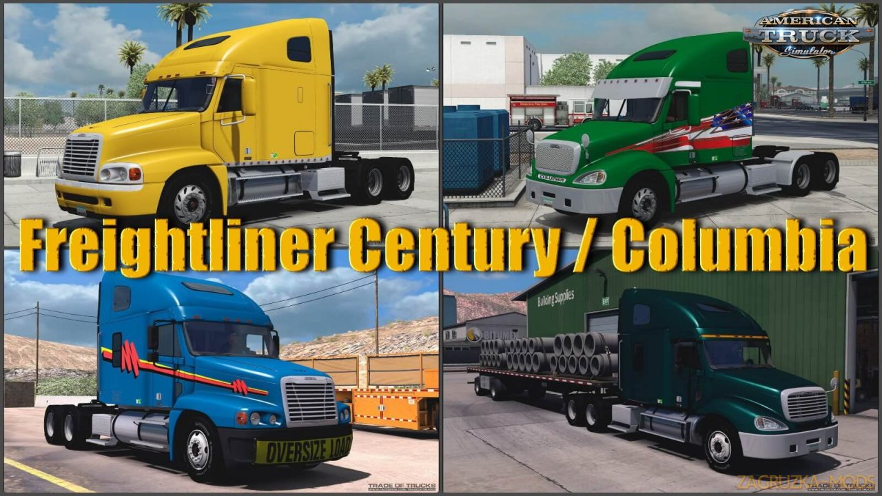 Freightliner Century & Columbia v2.0 (1.36.x) for ATS