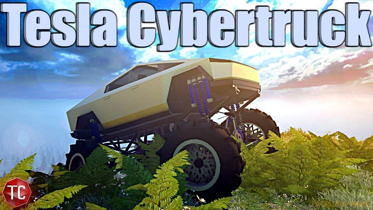 Tesla Cybertruck Mod v2.0 for SpinTires SnowRunner