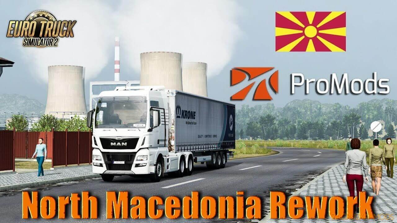 North Macedonia Rework v1.4 for ProMods v2.51 (1.39.x) for ETS2