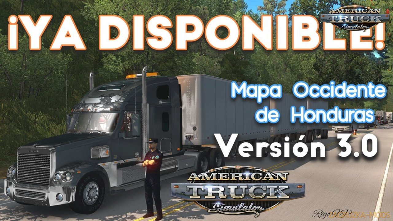 West of Honduras Map v3.0 (1.37.x) for ATS