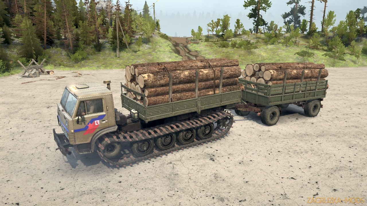 KamAZ 4310 Tracked Truck v1.0 for Spintires MudRunner