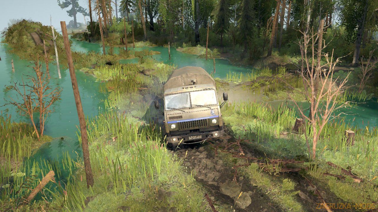 Somewhere In The Wood Map v1.1 for Spintires: MudRunner