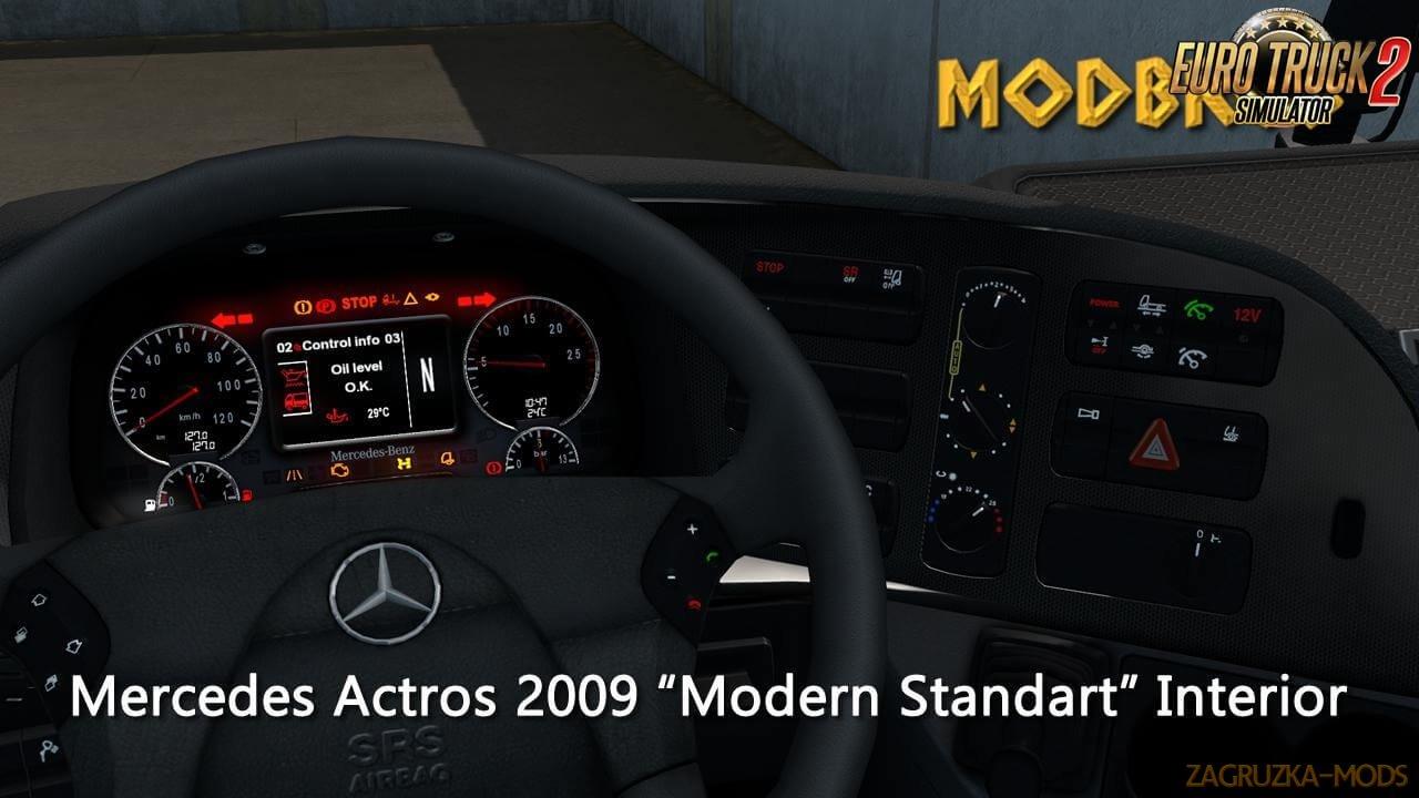 Mercedes 2009 Modern Interior v1.0 by ModBros (1.36.x) for ETS2