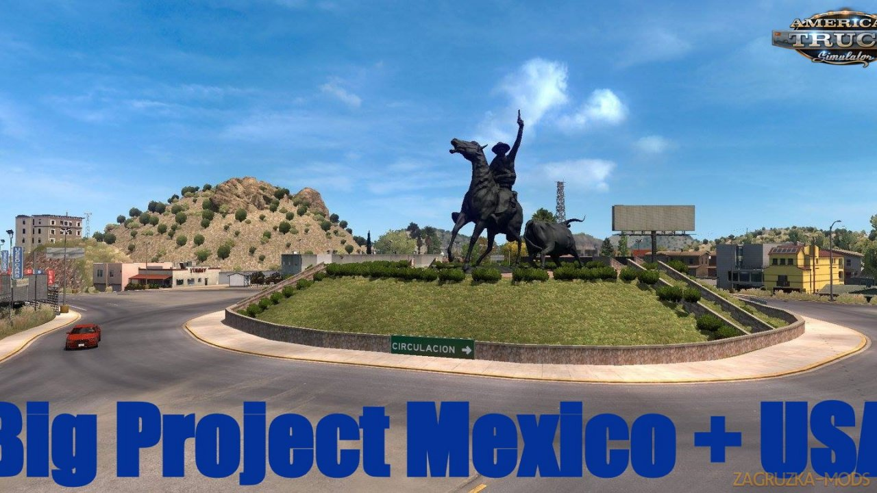 Big Project Mexico + USA Map v1.0 (1.37.x) for ATS