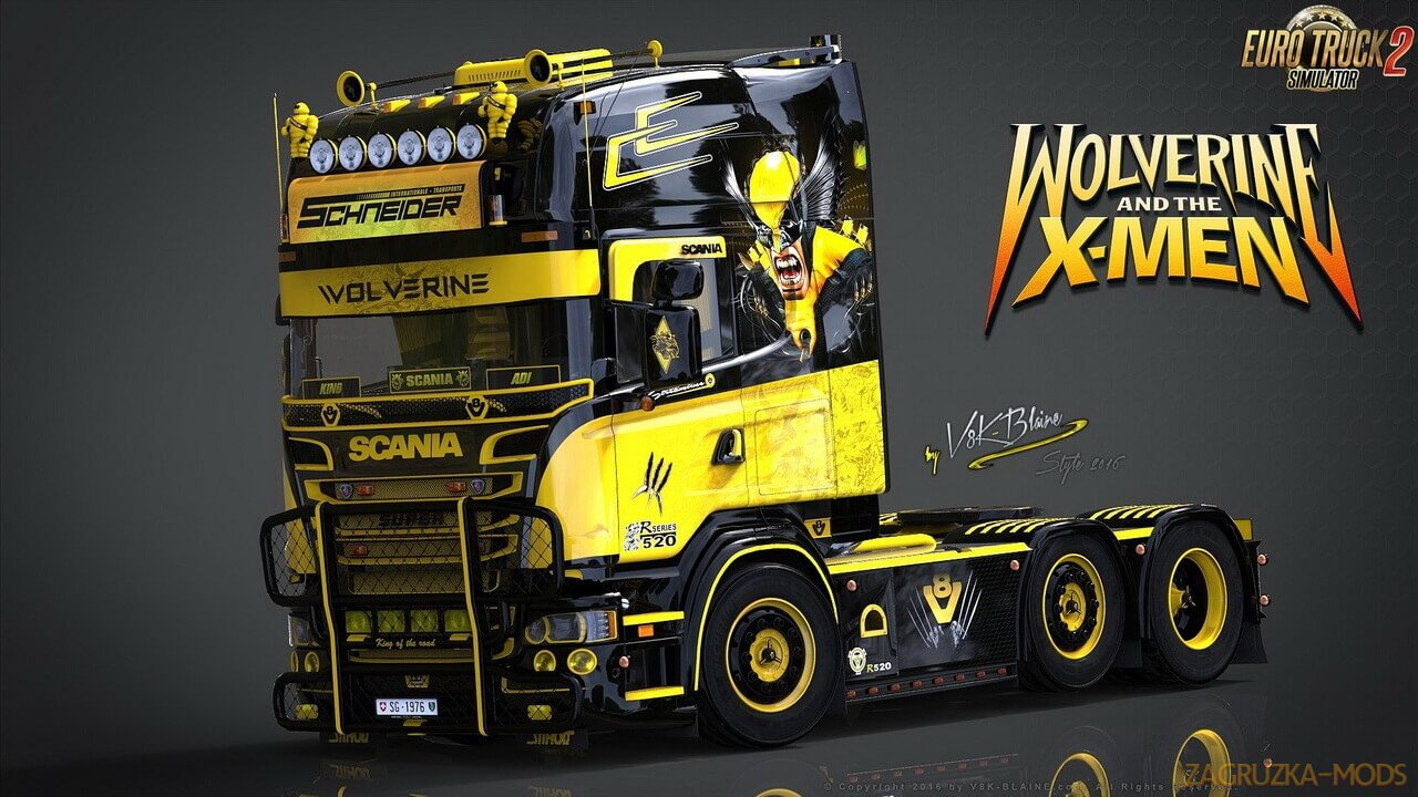 V8K Scania R520 Wolverine Edition v1.0 (1.36.x) for ETS 2