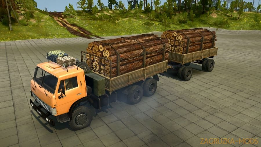 KamAZ 55102 Truck v2.0 for Spintires MudRunner
