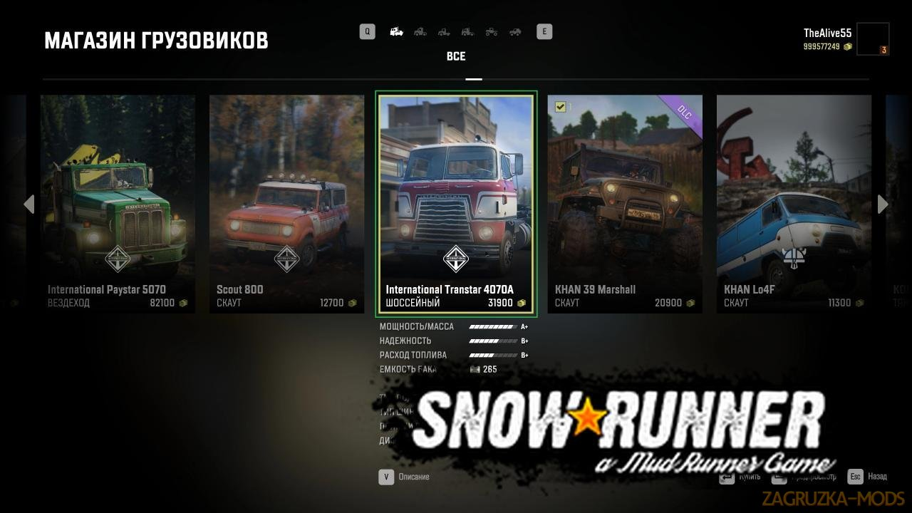 Unlock All Mods v1.0 for SnowRunner